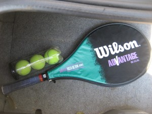Proof: This really IS my own tennis racquet!