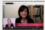 Screenshot of Anita Moorjani from Lilou Mace's (www.JuicyLivingTour.com) YouTube interview about Anita's Near Death Experience