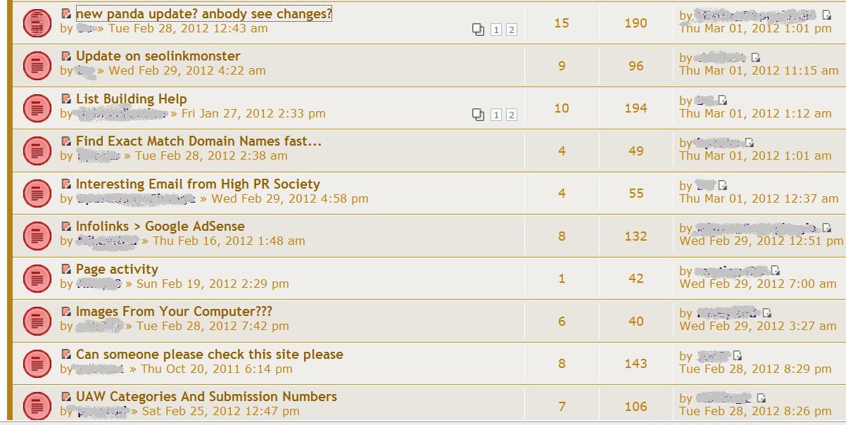 Bring the Fresh - Another Forum Screenshot