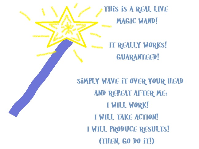 This is the Magic Wand I Made... If I Worked As Hard At WORK as I did Making This Magic Wand I would have RESULTS!